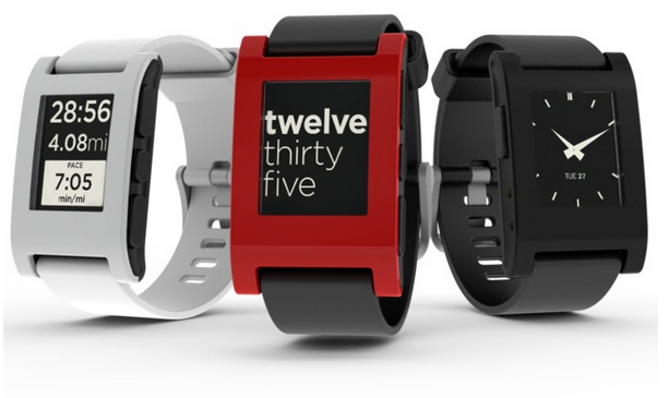 Pebble Handy Uhr